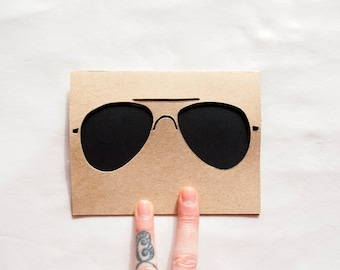 Hand Cut Card: CLEARANCE Aviators--Rad Dad Card
