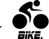 Swim Bike Run logo - 12in