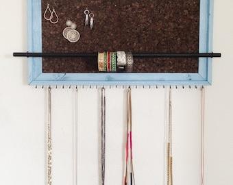 PAINTED 15x27 Barnwood Jewelry Display Organizer