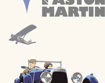 Art Deco Aston Martin Poster Giclee Print