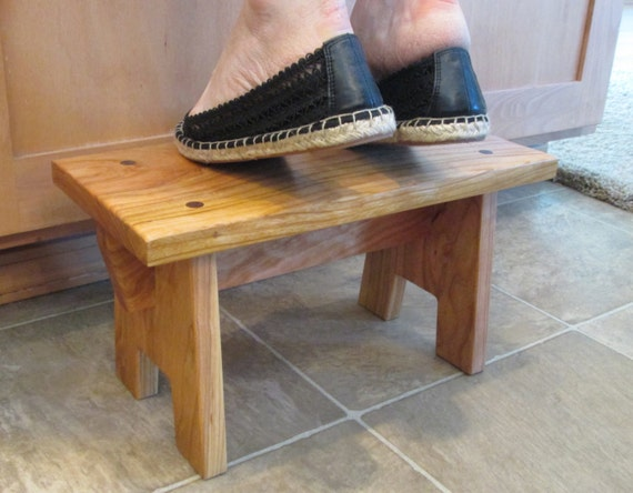 Rustic Cherry Step Stool Step Stool Craftsman Style By