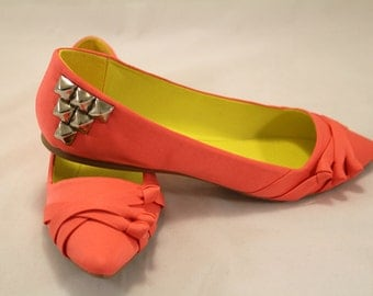 Coral Studded Flats 7