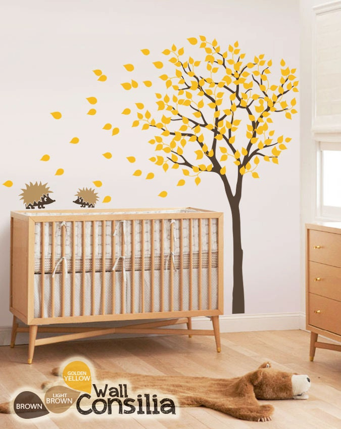 Baby nursery wall decals tree wall decal tree decal for Baby nursery tree mural
