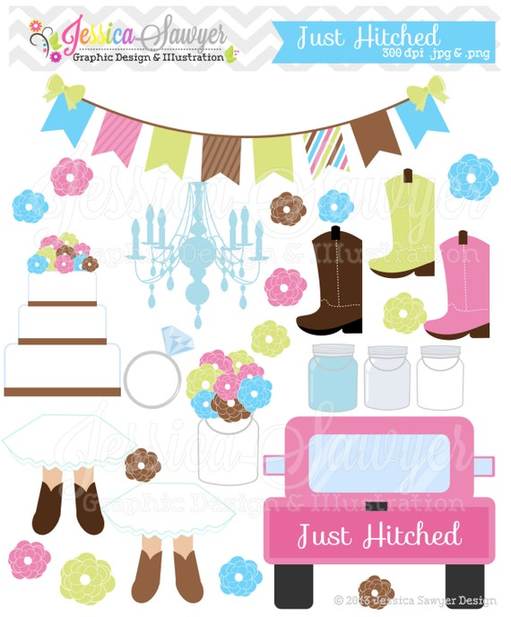 Items Similar To INSTANT DOWNLOAD, Country Wedding Clipart