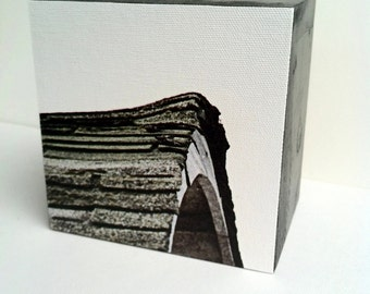 """Photography Color - Abstract Canvas Block """"Barn"""" Stackable with other blocks"""