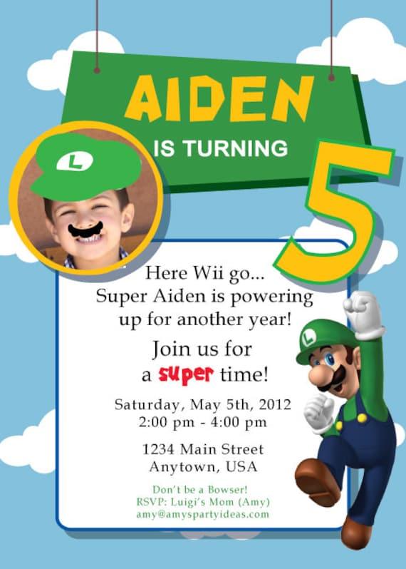Super Mario Birthday Party Super Mario Birthday Luigi Birthday