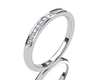 Diamond ring, White gold, Wedding band, half eternity, Diamond wedding band, thin, gold band, thin, wedding ring, Gold wedding