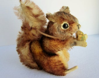 "Vintage Steiff  ""Perri"" Squirrel, German Toys, Collectible plush, Vintage Disney Perri"