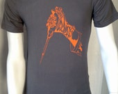 Gloved Hand Wielding Pipette Screen Printed Science T-Shirt