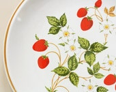 Strawberry Dinner Plate - Sheffield Stoneware Collection - YELLandPANIC