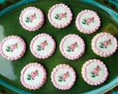 Pink ROSE Wafer Papers for Cookies - Victorian Edible Images