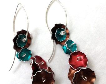 Colorful Fall Flower Earrings