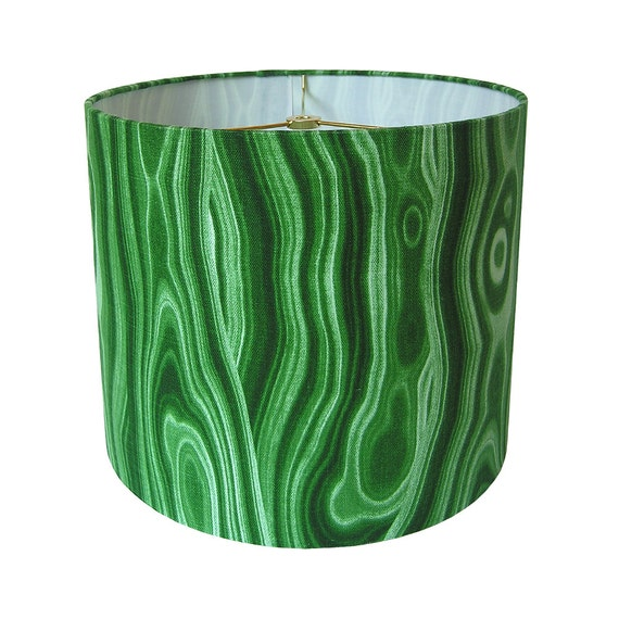Custom Lamp Shade Gemstone Lampshade Malachite Lamp Shade