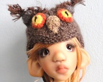 Cashmere Owl hat for bjd msd Kaye Wiggs, Kim Lasher