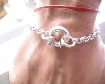 Luxurious Rollo chain life saver silver bracelet