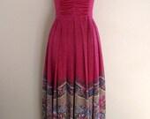 Vintage Maxi Dress/1970s Clothing/70s Maxi Dresss/Vintage Boho Maxi Dress