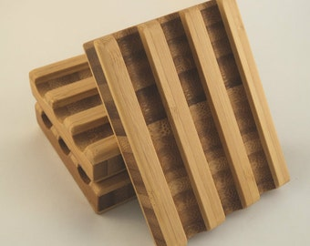 Bamboo Soap Dish, with Tung Oil - Handmade