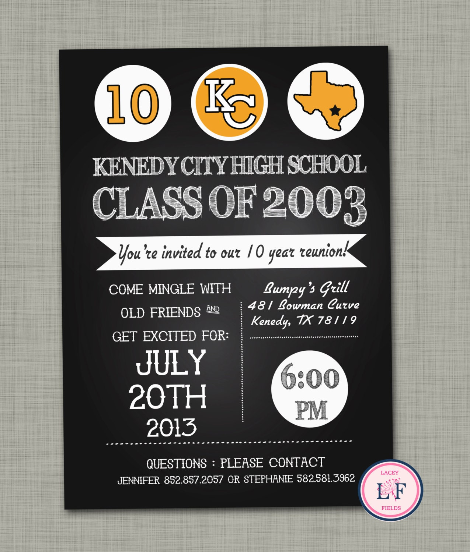 High school reunion invite High school reunion invitation 10
