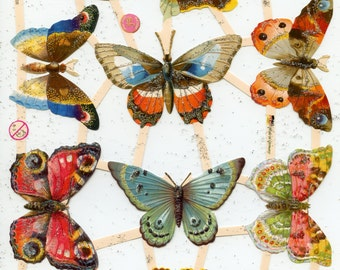 Butterfly SCRAP RELIEFS - Butterflies Scrap Reliefs - Butterfly Die Cuts - Die Cuts - Victorian Die Cuts - Nature Die Cuts