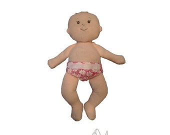 Reversible 'Just Right' Doll Diaper PDF Pattern - Baby Stella Size