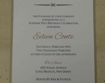 Double Layered Invitation:  All Occasion, Engagement, Anniversary, Wedding Invitation, Birthday Invitation, Shower Invitation
