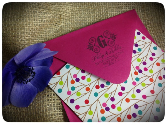 Personalized Address Stamp, Self Inking, Return Address Stamp, Wedding stamp, Housewarming Gift - FREE SHIPPING - Monogram