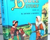 Vintage Children's Book.  The Bible Story Volume One. 1950's. Retro Childhood Memories.  Sunday School.  Simpler Times. Nursery Decor.