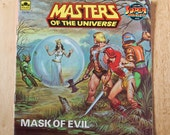 RESERVED FOR KARATEPOP - He-Man Mask of Evil - Masters of the Universe Children's Classic Book 1980s kids