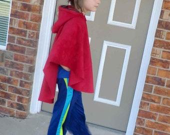 Little Red Riding Hood Cape     Size 6 thru 12
