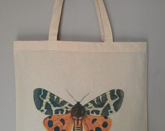 Vintage Butterfly Tote Bag Eco Friendly Professionally Heat Transferred