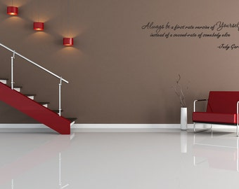 Always be the First rate version of Yourself Vinyl Wall Decal Quotes (v360)