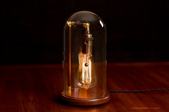 lampe cloche edison par dancordero sur etsy. Black Bedroom Furniture Sets. Home Design Ideas