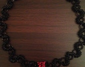 Black Widow Chainmaille necklace, Marvel Avengers inspired