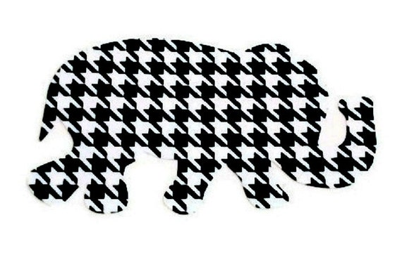 Houndstooth Elephant Vinyl Decal / Car Decal / Computer Decal / Wall Decor