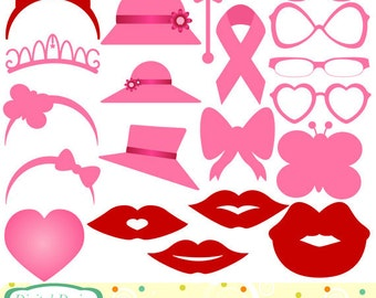 Ladies accessories clip art set, 20 designs. INSTANT DOWNLOAD for Personal and commercial use. Photo overlays.