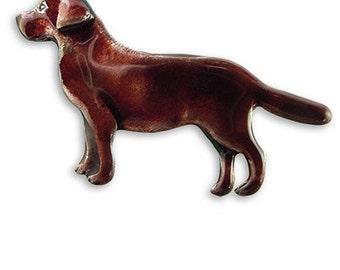 Enamel Chocolate Labrador Pin