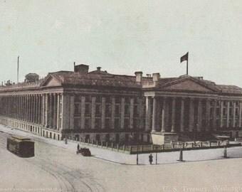 WASHINGTON, D. C. - United States Treasury, Vintage Postcard, c. 1900s, Clinedinst Photo