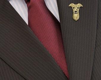 Italian Greyhound Brooch - Gold