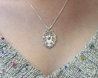 Shetland Sheepdog pendant and necklace - sterling silver
