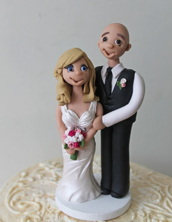 Bald Groom Cake Toppers For Weddings Bald Groom With Bride