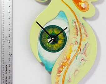 Modern Wall Clock Large - Queen of Heart Series - Spring Storm