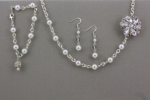 Wedding Jewellery Gift Sets : Bridesmaid Gift Set-Wedding Jewelry-Pearl Jewelry-Bridesmaid Jewelry ...
