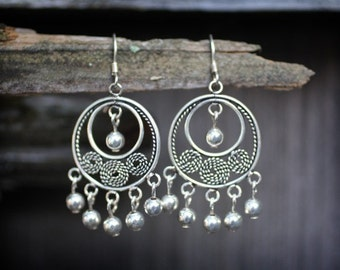 Sterling Silver Chandelier Earrings (Feeling Exotic)