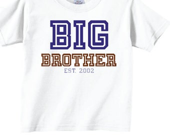 Big Brother Shirts with College Font Tees
