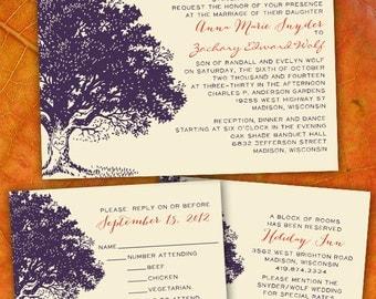 Custom Oak Tree Wedding Invitations