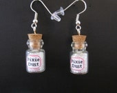 Pixie Dust Earrings, fairy glitter, bottle earrings