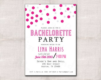 Bachelorette Party Invitation custom printable 5x7