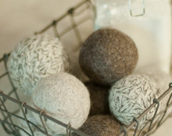 3 Wool Dryer Balls an Eco Friendly Non Toxic Alternative to Dryer Sheets