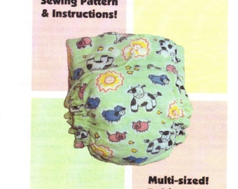 Pattern KINDERBEE Cloth Diaper Sewing Pattern for babies 6-48 pounds