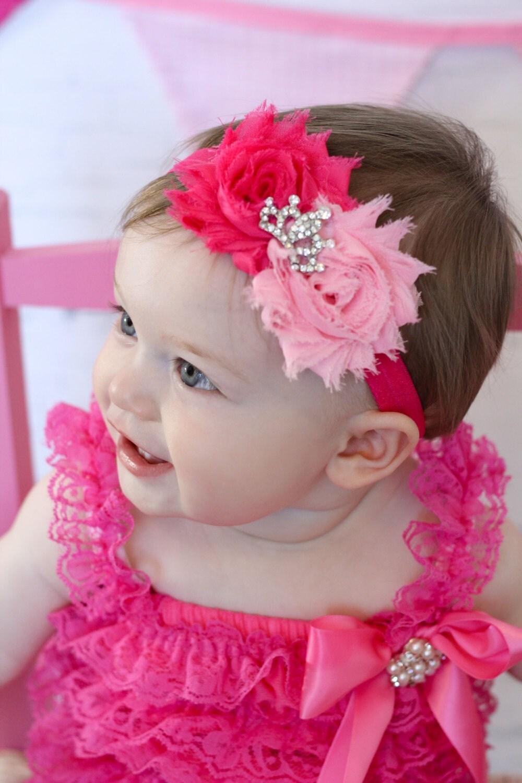 Princess Shabby Headband Baby Headband Shabby Chic Headband
